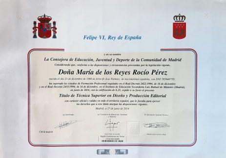 Título de Técnico Superior en Diseño y Producción Editorial